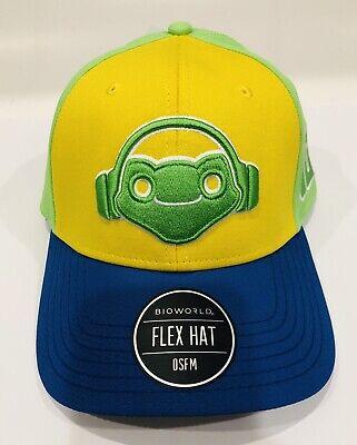 NEW Overwatch Lucio Multicolor Embroidered OSFM Bioworld Flex Fit Hat Cap  Osfm Flex Cap