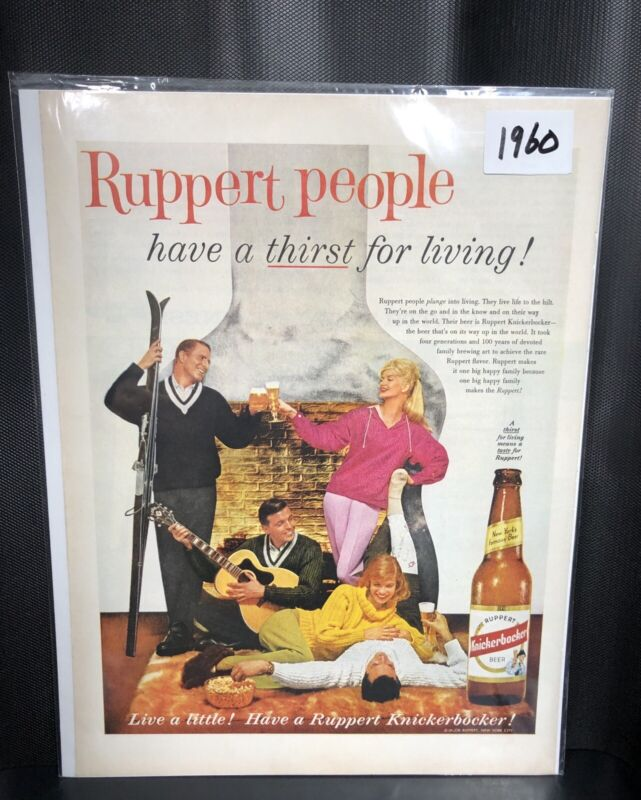 1960 Ruppert Knickerbocker beer ad