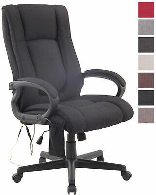 Bürostuhl XL Sparta XM Stoff Computerstuhl mit Massagefunktion Schreibtischstuhl