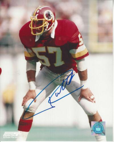 Washington Redskins Rich Milot  autographed 8x10 action color  photo **
