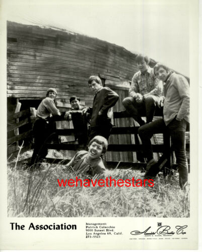 VINTAGE The Association 60s POP VOCAL GROUP Publicity Portrait