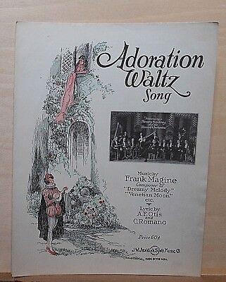 Adoration Waltz - 1924 sheet music  - Henry Santrey & Record Orchestra - Adoration Sheet Music