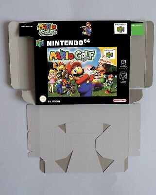 Mario Golf 64 - reproduction box with insert - N64 - Pal . HQ !