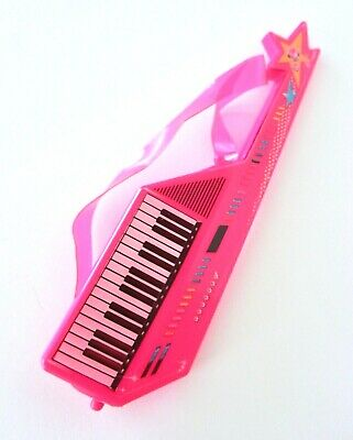1:6 Scale Barbie Music Accessory Pink Keytar Keyboard With Piano Shoulder Strap