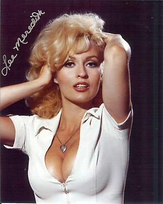 Miller  Lite's Sexy Lee Meredith autographed 8x10 photo bonus 4x6 of signing