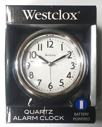 Westclox Vintage Retro Alarm Clock Peg Leg Big Numbers Quartz Battery Powered