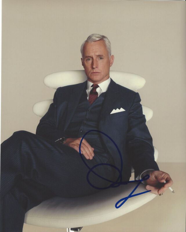 JOHN SLATTERY SIGNED AUTHENTIC 'MAD MEN' 8X10 PHOTO w/COA ACTOR TED 2 SPOTLIGHT
