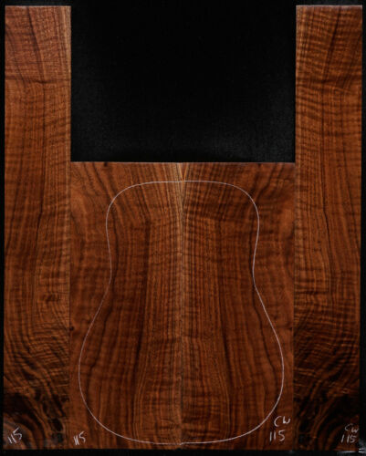 California Walnut Guitar Set #115 Dreadnought Size Back  and Sides Luthier