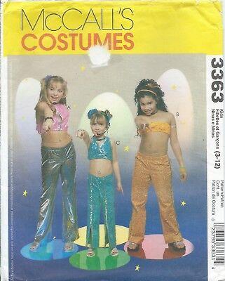 McCall's 3363 HALLOWEEN COSTUME Pattern DIVA ~ ROCK STAR Singer Child Girls 3-12 (Rock Star Diva Halloween Costumes)