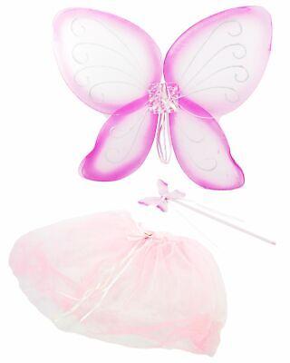 Feen Set für Kleinkinder Karneval Fasching Märchen Party rosa Phantasie (Kleinkind Rosa Märchen Kostüm)
