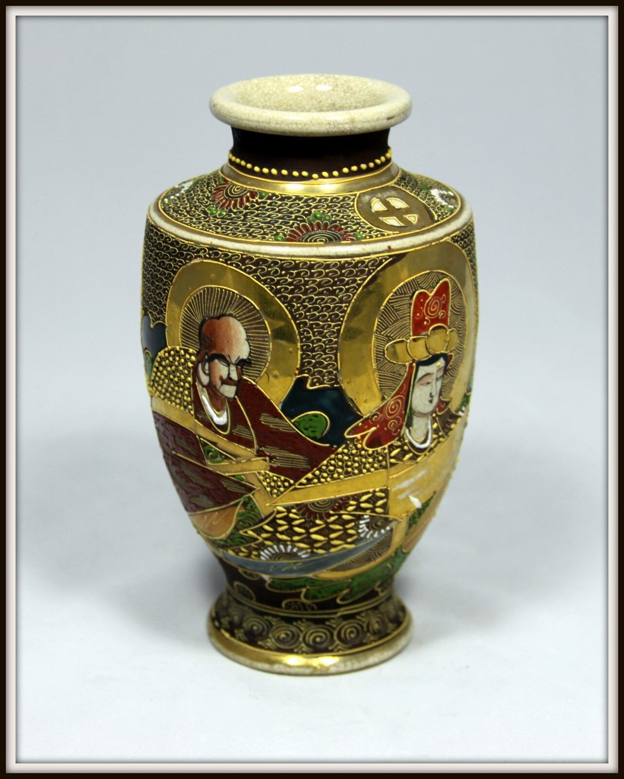 Japanese asianoriental antiques antiques meji period hand crafted antique japanese satsuma vase exquisite reviewsmspy