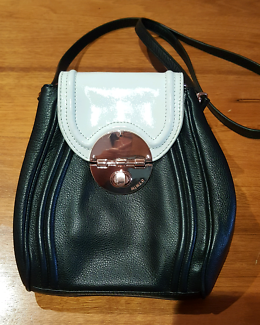 MIMCO Offbeat Hip bag- Black & White with gold hardware