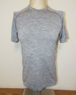 Men's Lululemon Metal Tech Short Sleeve Crew Neck T-Shirt Heathered Gray Small