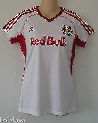 6fe8b3a56b8 Adidas NEW YORK RED BULLS Soccer football NY shirt Jersey MLS USA Top~Women  sz L