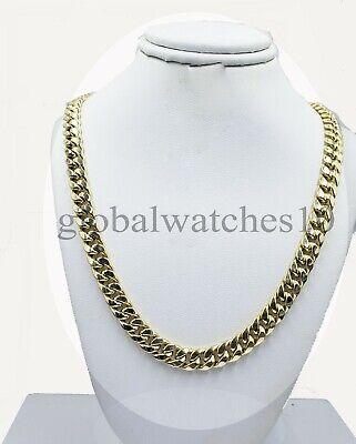 10k Gold Chain Mens Miami Royal Design Cuban Link Box Lock 7.1mm 22 inch Real  3