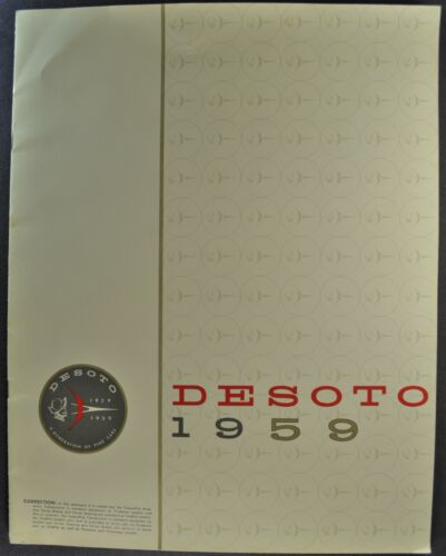 1959 DeSoto Large Brochure Adventurer Fireflite Firedome Excellent Original 59