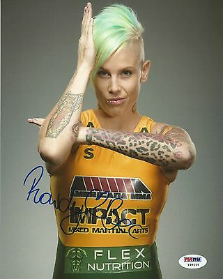 Rowdy Bec Rawlings Signed Ufc 8X10 Photo Psa Dna Coa The Ultimate Fighter Autod