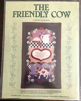 The Friendly Cow Wall Quilt Craft PATTERN ONLY