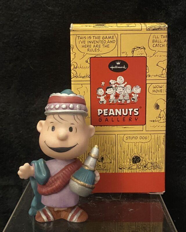 Linus Peanuts Hallmark Peanuts Gang A Wise Man Nativity Figurine In Box Limited
