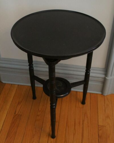 RARE AESTHETIC MOVEMENT EBONIZED LAZY SUSAN TEA TABLE VICTORIAN, E W GODWIN ERA