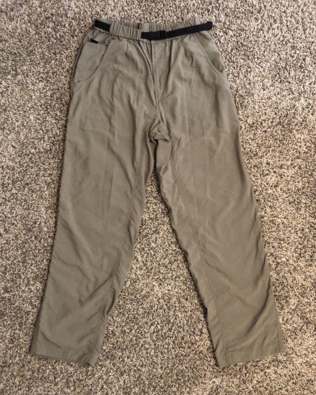 Columbia Women's Hiking Pants Medium Tan 100% Nylon Adjustable Belt Outdoors EUC