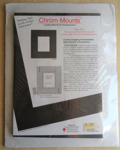 """Chrom-Mounts """"Cropping Mounts for Transparencies"""" 40 Pieces/Pak NIP"""