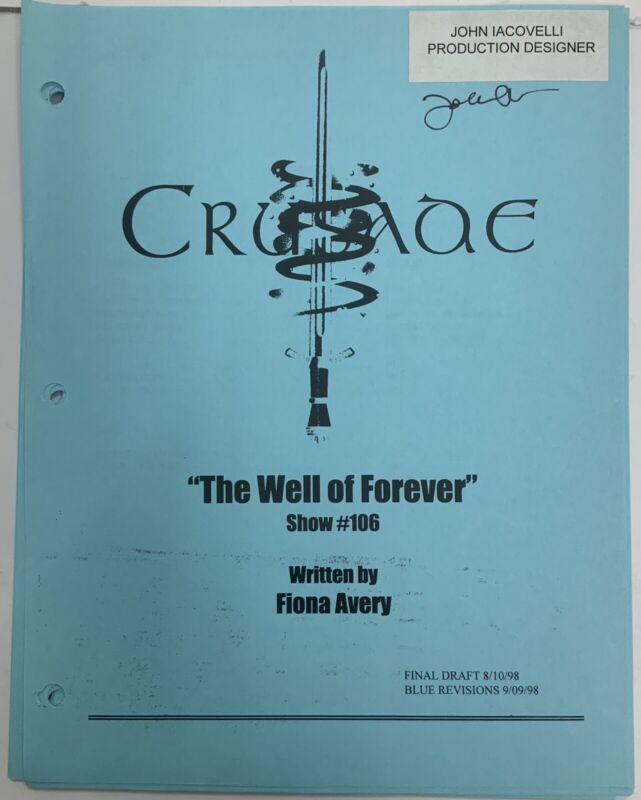 Babylon 5 Crusade The Well Of Forever #106 Script 43 Pages 1998 Signed