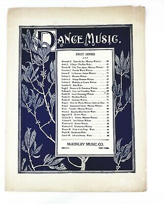 Blues Classical Sheet Music (Beautiful Blue Danube 1900s Sheet Music Johann Strauss Waltz Classical Piano )