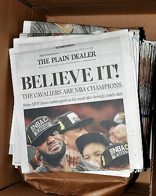Cleveland Cavaliers Cavs Plain Dealer Entire Newspaper Believe 2016 Nba Finals