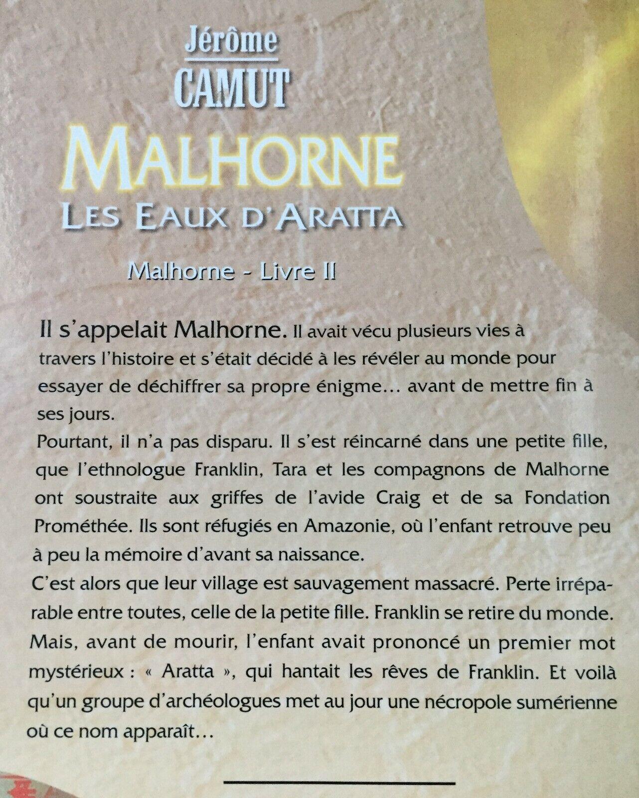 Roman 'malhorne' livre 2/tome 2 de j. camut – bon état
