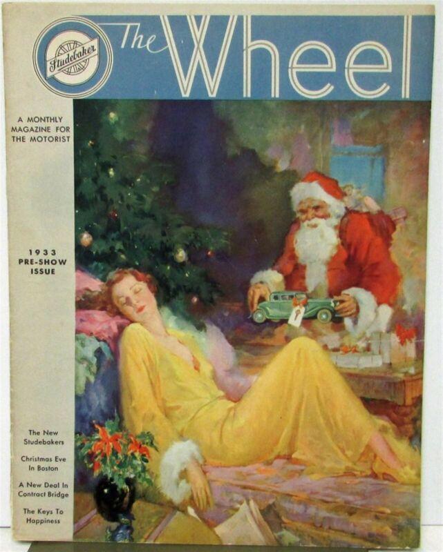 1933 Studebaker Commander President St Regis Brougham Wheel Mag Pre Show Issue