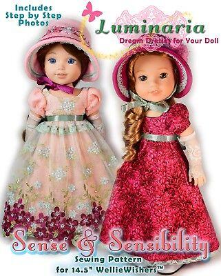 "Digital PDF Dress Pattern For 14"" American Girl Wellie Wishers Hearts 4 Hearts"