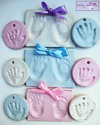 Super soft air drying clay baby handprint footprint,imprint kit ,casting,unisex