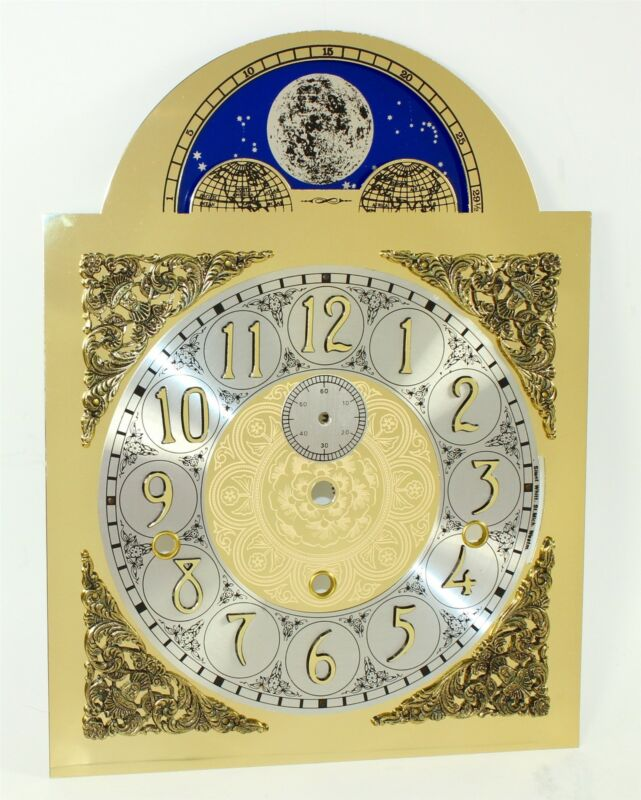 HERMLE TRIPLE CHIME DIAL - GRANDFATHER CLOCK - fits 1161 Moon Dial - NOS - EY185