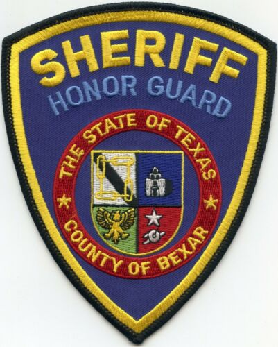 BEXAR COUNTY TEXAS TX blue background HONOR GUARD SHERIFF POLICE PATCH