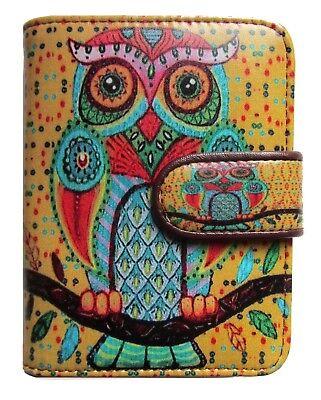 Eule Karten (Kreativ Eule Kreditkartenetui Graffiti Visitenkartenetui Kunstleder)