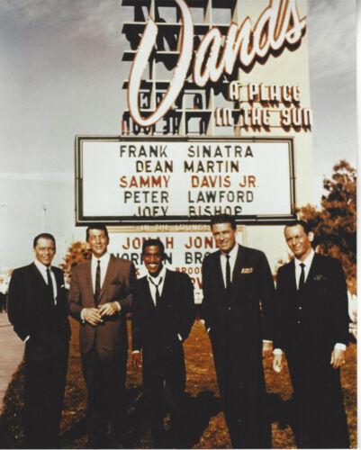 Rat Pack col photo Frank Sinatra, Sammy Davis Jr. Dean Martin, Bishop & Lawford*