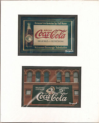 Vintage Coca-Cola Advertising Billboard Photographs, Professionally Matted!