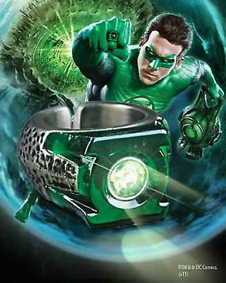 Green Lantern Light Up Power Ring Prop Replica Boxed Noble
