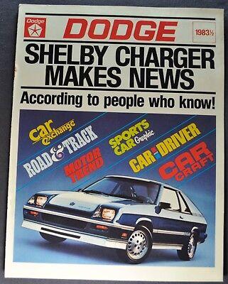 1983-1984 Dodge Shelby Charger Road Test Catalog Brochure Excellent Original