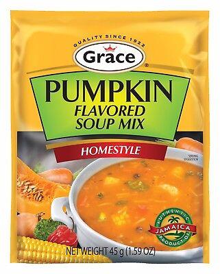 3 Grace Cock Soup mix Flavors Pumpkin,Fish Tea & Spicy Cock Soup Size -