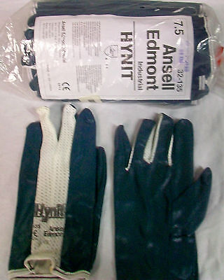 1-dozen Ansell Coated Work Gloves Ventilate Nitrile Impregnated Fabric Size 7.5