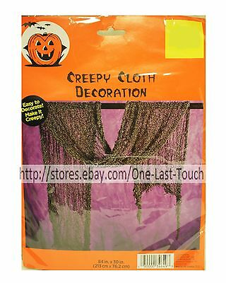 HALLOWEEN*Easy To Decorate CREEPY CLOTH DECORATION Great 4 Parties ASHY BLACK 1b - Halloween Party Decorations Easy