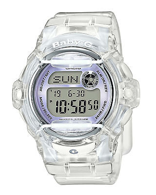 Casio BABY-G BG169R-7E Whale Series Women's Clear Lavender Resin Digital Watch