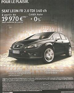 publicite advertising 2011 seat leon fr 2 0 tdi 140 ch ebay. Black Bedroom Furniture Sets. Home Design Ideas