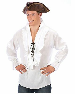 Swashbuckler Pirate Vampire Shirt Adult Costume Accessory, White, Standard Size - Vampire Pirate Costume