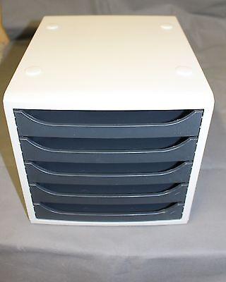 Ablagesystem Schubladenbox A4 Ablage 5 Fächer Briefablage Schreibtischbox Nr.2