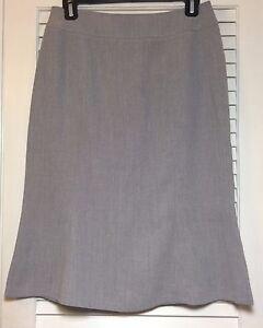 Women's FOCUS 2000 Gray Trumpet Flare Knee Length Skirt Size 8