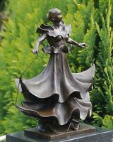 Beautiful Abstract Dancer Contemporary Pure Bronze Sculpture Statue Sculpture -  - ebay.co.uk