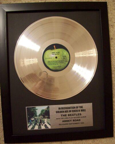 Beatles ABBEY ROAD Platinum White Gold LP Record +Mini Album Not a Award +Plaque